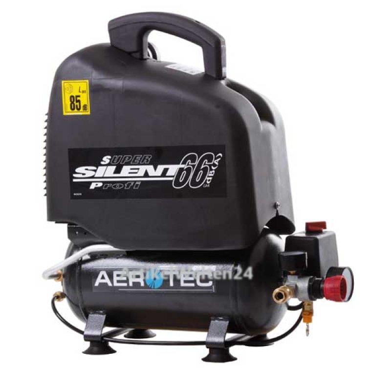 aerotec kompressor 6 liter vento silent nur 66 db extra schmal. Black Bedroom Furniture Sets. Home Design Ideas