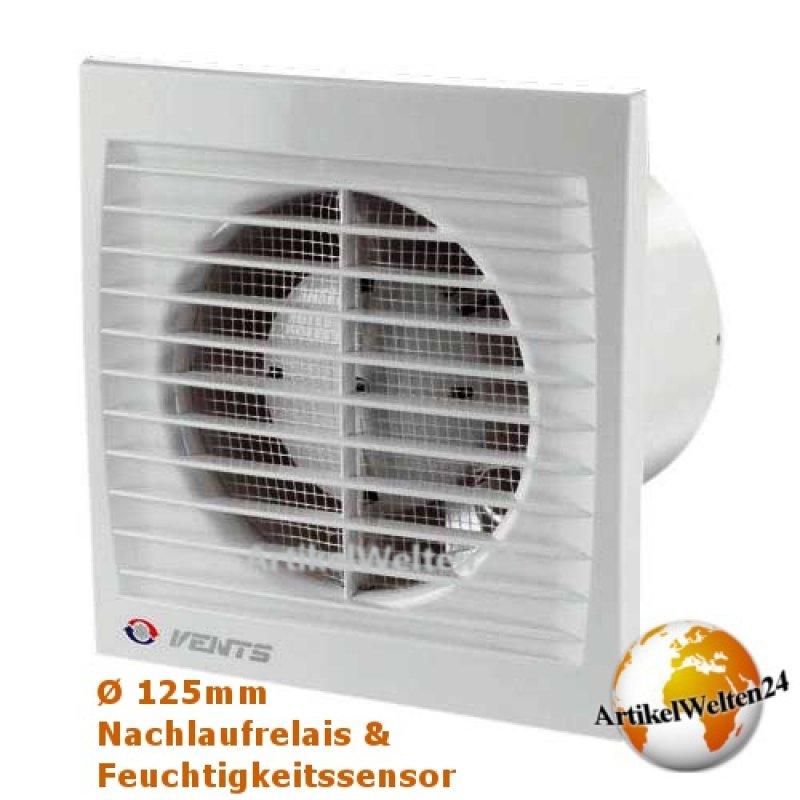 badl fter mit nachlaufrelais und feuchtigkeitssensor 125mm abluft axial ventilator. Black Bedroom Furniture Sets. Home Design Ideas