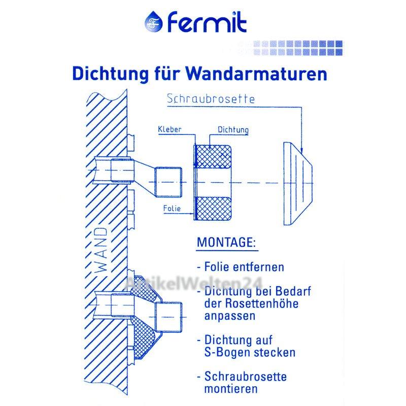 dichtungen f r wandarmaturen trapse s anschl sse 2er pack fermit. Black Bedroom Furniture Sets. Home Design Ideas