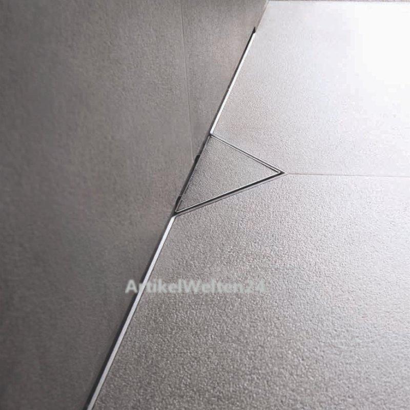 duschrinne edelstahl 70 120cm ess easy drain s line komplett set. Black Bedroom Furniture Sets. Home Design Ideas