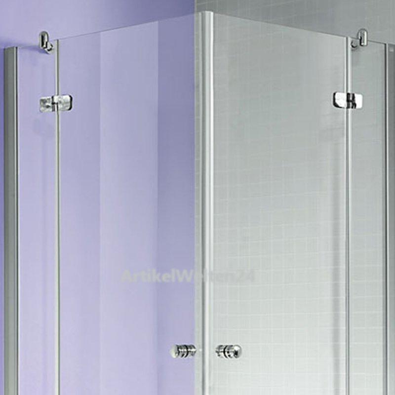 eck-duschkabine 2-tlg. - 90 cm x 90 cm, ganzglas klapptür - made ... - Dusche Klapptur