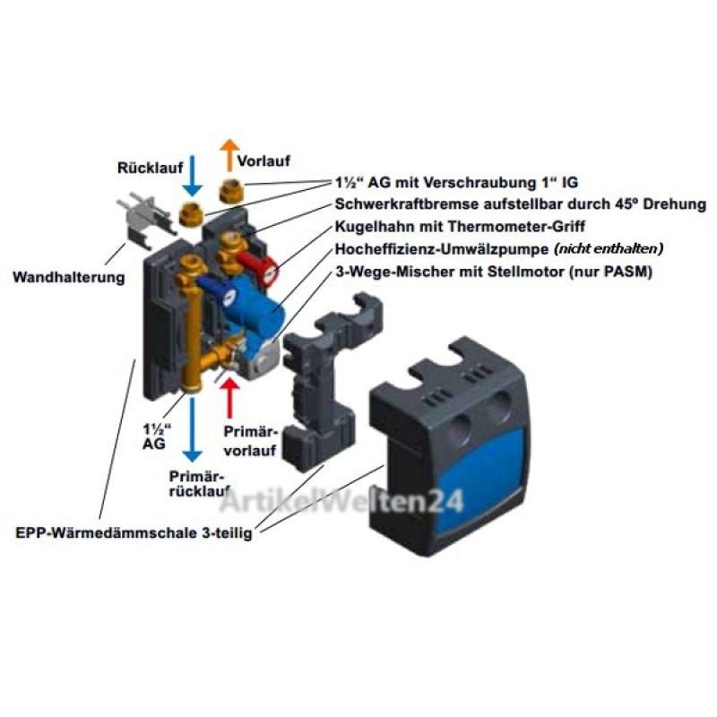pumpen mischermodul pasm25 6 3 mischergruppe dn25