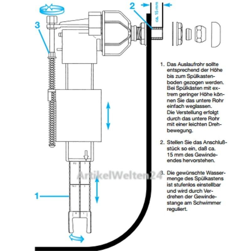 universalf llventil jomo lokus pokus f r wc sp lkasten ventil. Black Bedroom Furniture Sets. Home Design Ideas