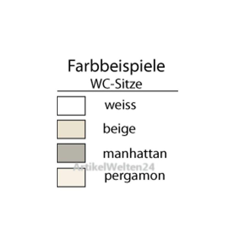 WC-SITZ mit Edelstahlscharnier, Farbe: pergamon, 1,7 Kg - 2 ...