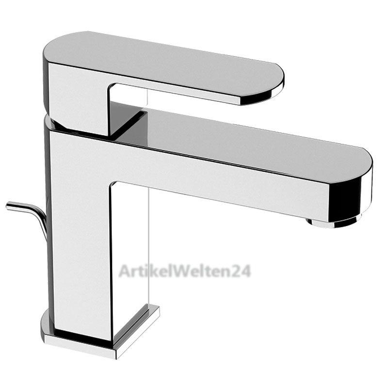 waschtischarmatur dado design wasserhahn komplett mit ablaufgarnitur chrom. Black Bedroom Furniture Sets. Home Design Ideas