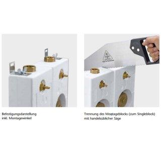 unterputz wasserz hler montageblock wg tec 3000 3 4 ig. Black Bedroom Furniture Sets. Home Design Ideas