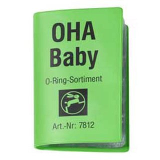 OHA BABY O-Ring Sortiment, mit 106 Stück, 15 Sorten, Haas 7812